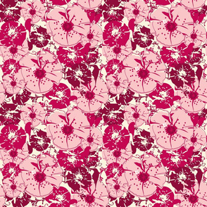 Fuschia Hibiscus Flowers