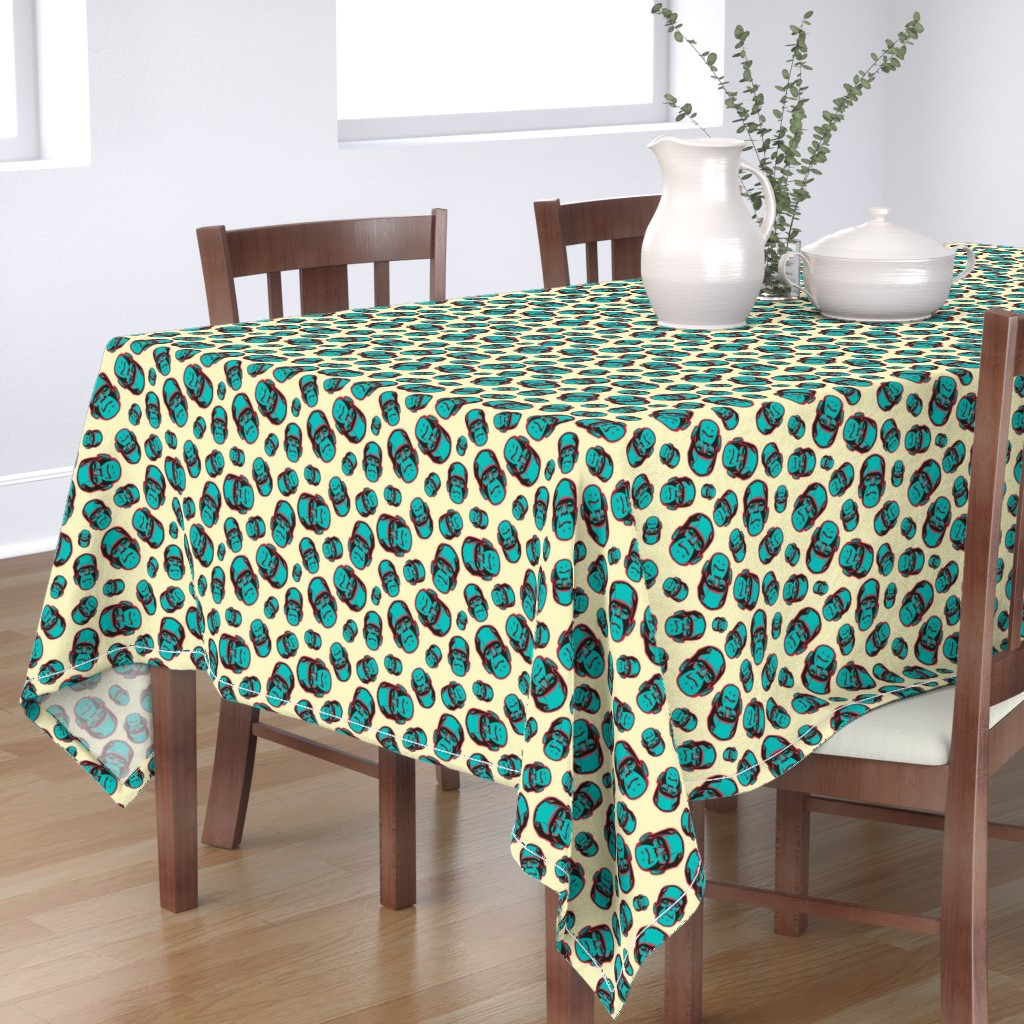 Bantam Rectangular Tablecloth featuring Franky Faces by sugarxvice