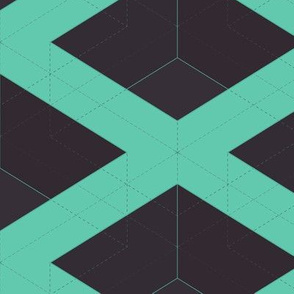 Teal Cubes by Friztin