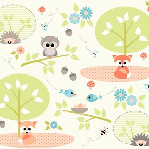 Woodland babies with blue
