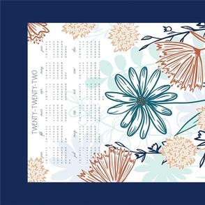 2020 Wildflower Tea Towel Calendar