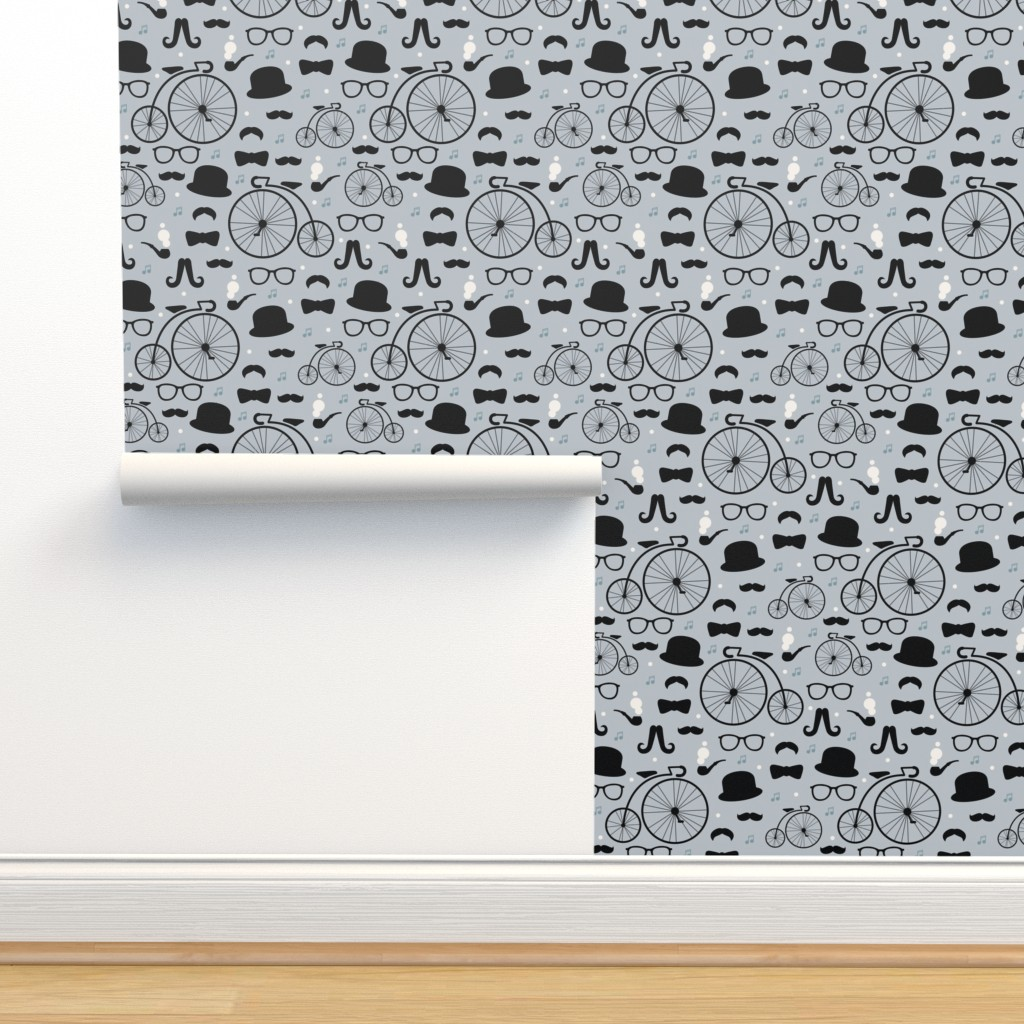 Film Noir Hipster Pattern Great Gatsby On Isobar By