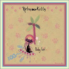"""Retro Kitty 18"""" Paws Scarf"""