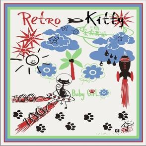 """Retro Kitty 18"""" SCARF"""