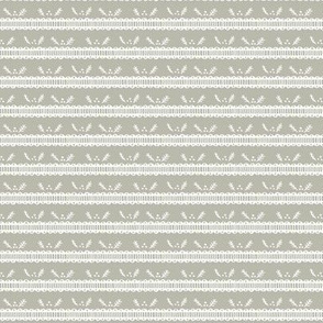 Holiday Pine Lace - White and Gray
