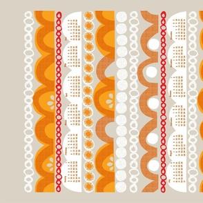 2021 citrus slice tea towel calendar