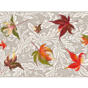 Falling Leaves tea towel