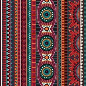 Ethnic red ornament