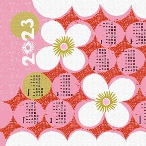 2021 dotty flowers tea towel calendar-27 inch