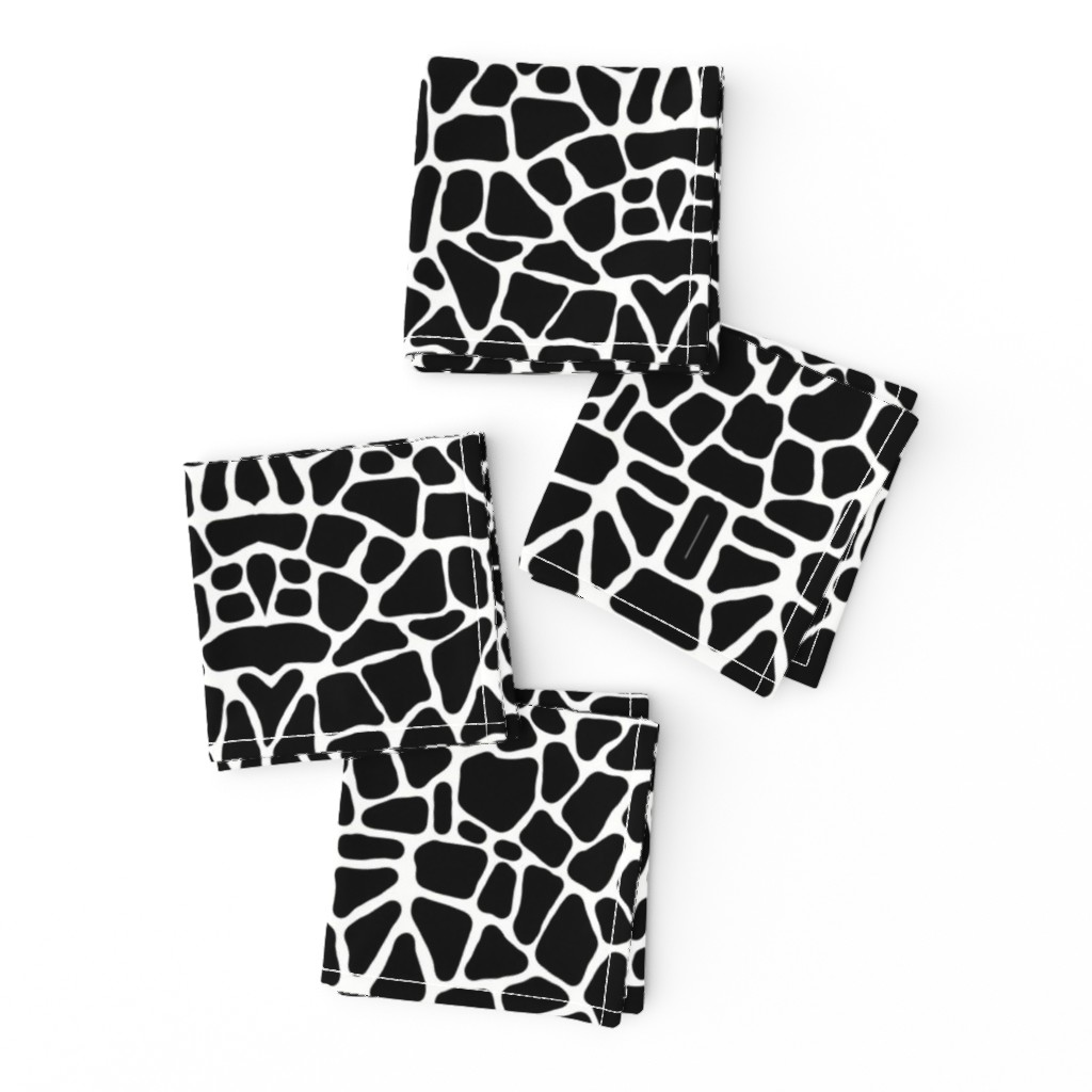 Frizzle Cocktail Napkins featuring Pebbles black and white by whimzwhirled