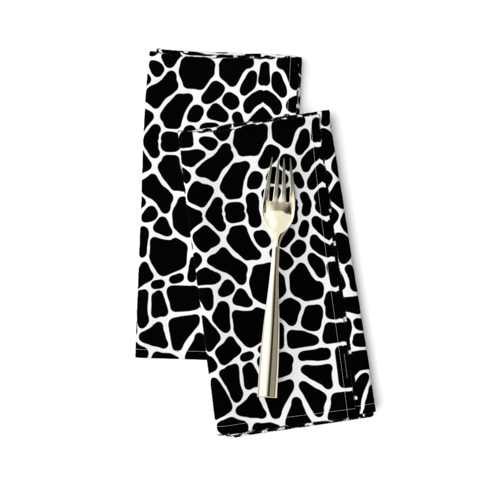 Amarela Dinner Napkins featuring Pebbles black and white by whimzwhirled