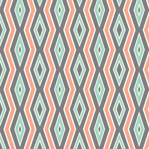 Gray_with_Mint___coral_lines_with_thickness_sample_b