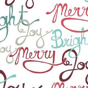 Joyful Holiday Words - Large