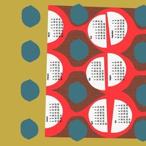 2021 retro tea towel calendar