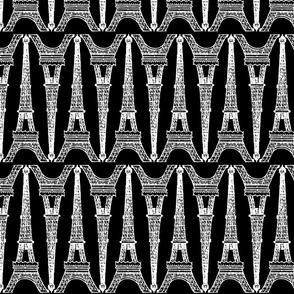 Paris ~ Eiffel For You ~ Black and White Chalk