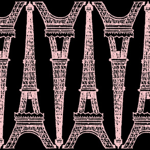 Paris ~ Eiffel For You ~ Black and Pink ~ Reverse