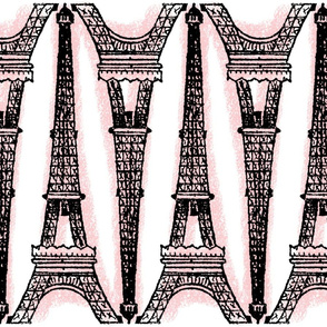 Paris ~ Eiffel For You ~ Black and Pink and White Chalk