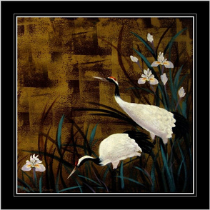 """18""""Orchids and Cranes / Scarf"""