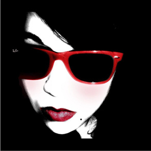 "18"" SARAH RED SCARF"