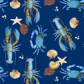 Lobster and Crab Bisque (blue)