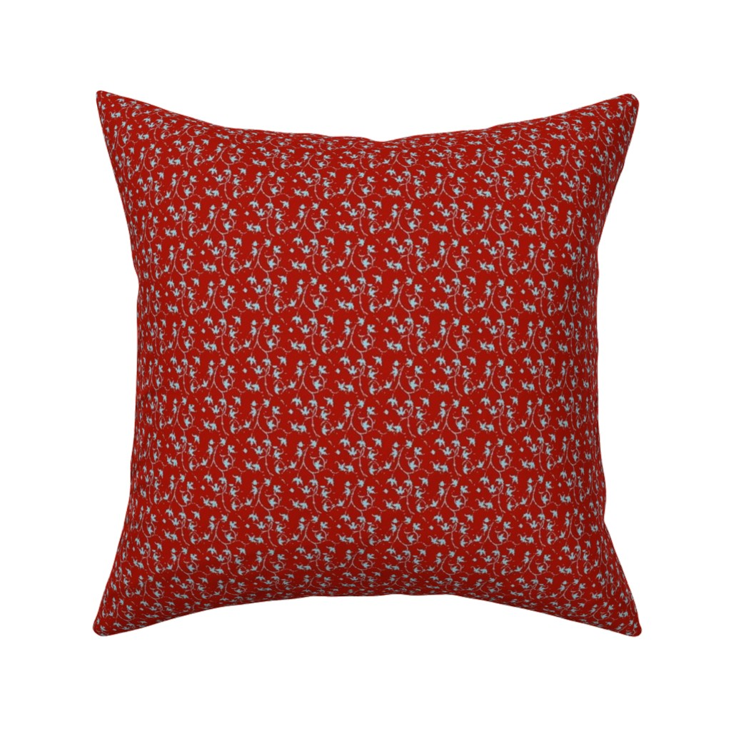 Catalan Throw Pillow featuring Holly Red by amyvail