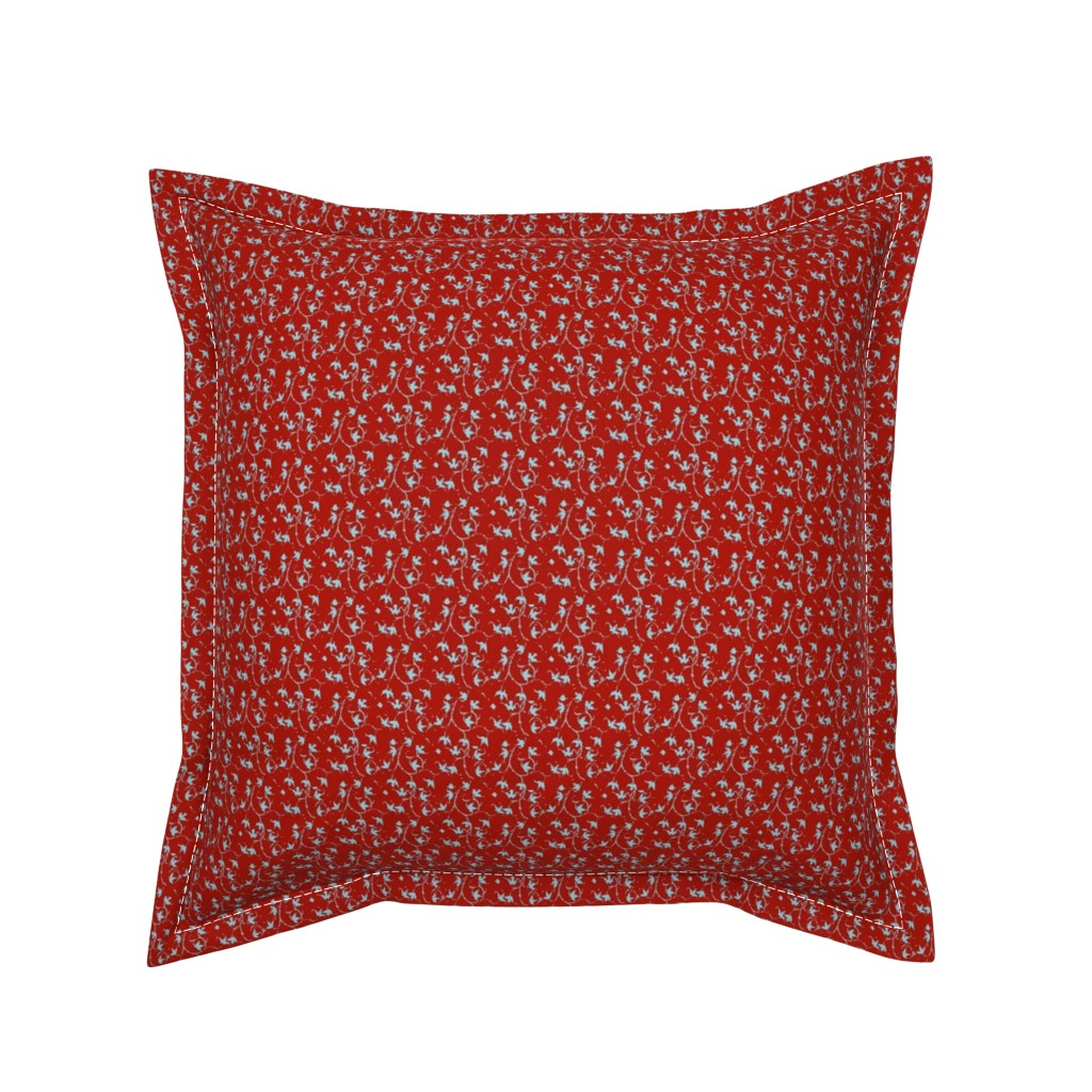 Serama Throw Pillow featuring Holly Red by amyvail