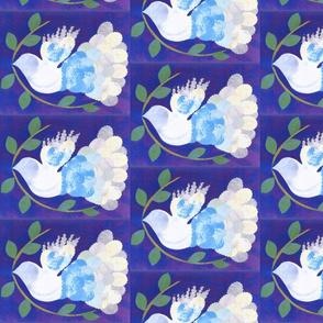 Peace Dove half drop