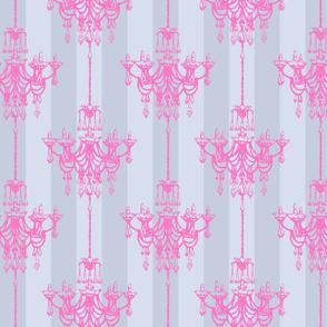 Princess chandelier damask