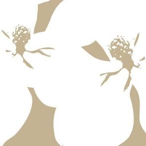 Magnolia Little Gem - Creme Caramel - 3 Yard Panel