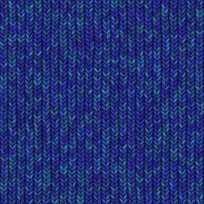 Large Blue Knit