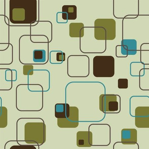 Groovy Cubes - 9in (teal)