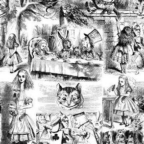 Curiouser and curiouser!  An Alice Toile ~ Small