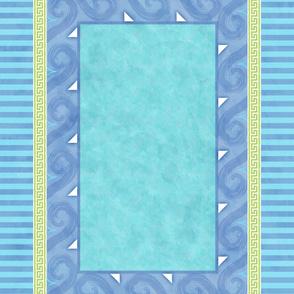 Greek Key Tablecloth 54x72 in