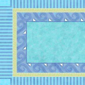 Greek Key Wave Tea Towel