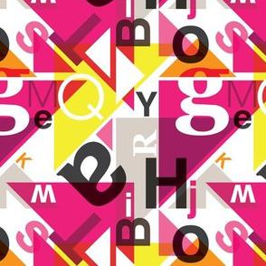 Colorful typography alphabet