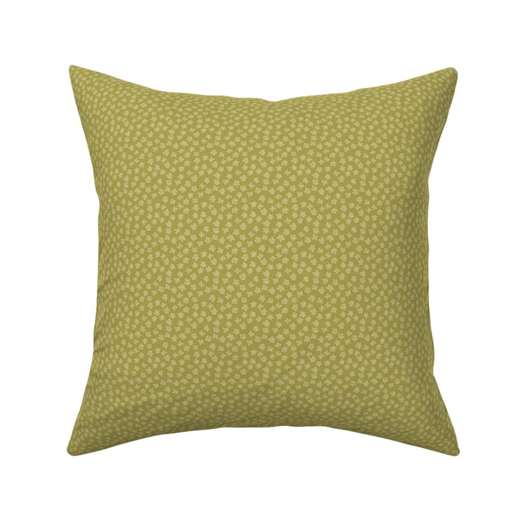 Catalan Throw Pillow featuring Eucalyptus coordinate olive by cindylindgren