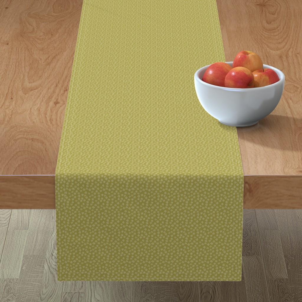 Minorca Table Runner featuring Eucalyptus coordinate olive by cindylindgren