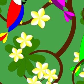 250435-hawaiian-parrots-plumeria-tree-by-stephane