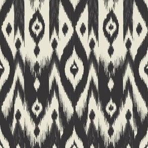 Black & Cream Tribal Ikat