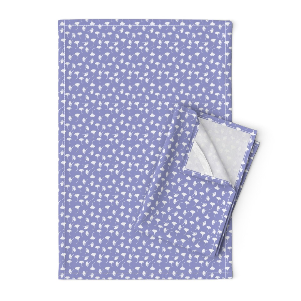 Orpington Tea Towels featuring Ginkgo lavendar by cindylindgren