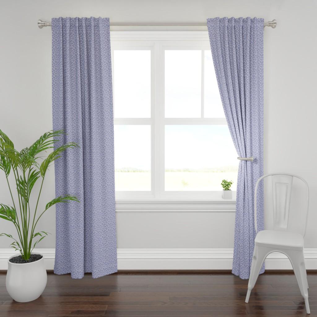 Plymouth Curtain Panel featuring Ginkgo lavendar by cindylindgren