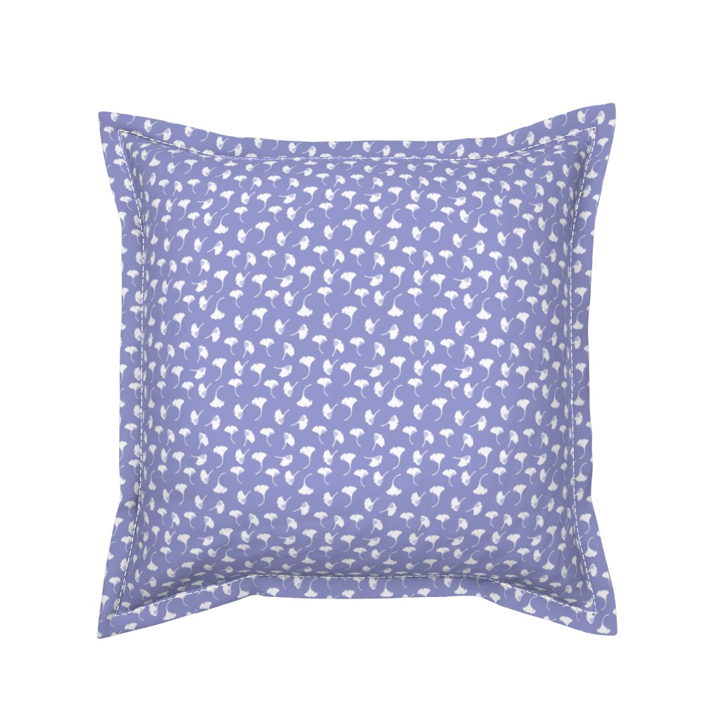 Serama Throw Pillow featuring Ginkgo lavendar by cindylindgren