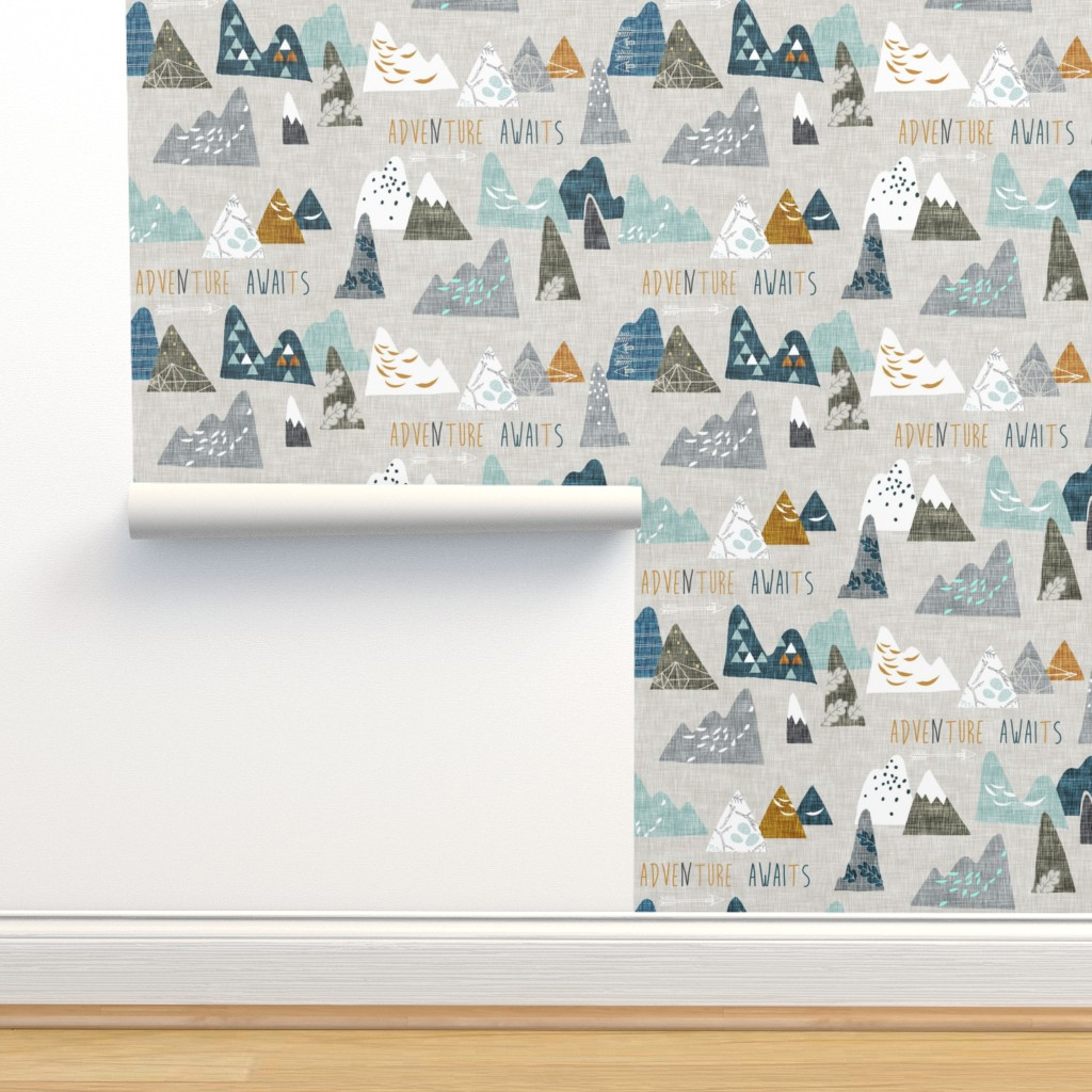 Isobar Durable Wallpaper featuring Adventure Awaits (earth) SMALL by nouveau_bohemian