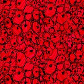 Poppies in Memorium (sewn) for 2014