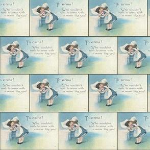 Vintage Nurse Postcard WW1