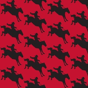 Cowboy Bronco Rider Red and Black