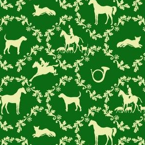 Hunt Damask green