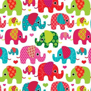Retro kids indian elephant pattern fabric