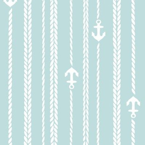 Ropes and Anchors blue white