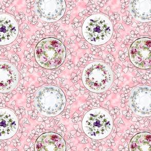 Teatime Saucer Dots Pink
